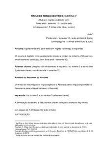 Modelo de Artigo Cientifico em Word - Direito Penal I