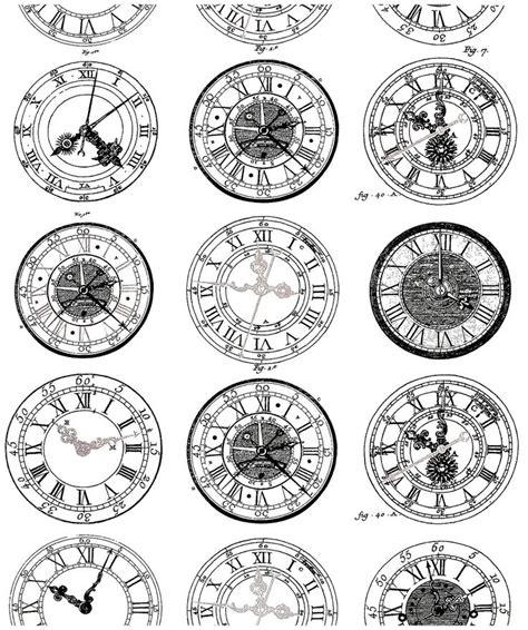 Clock Face Templates For Printing – Clock Face with Roman Numerals   The Graphics Fairy