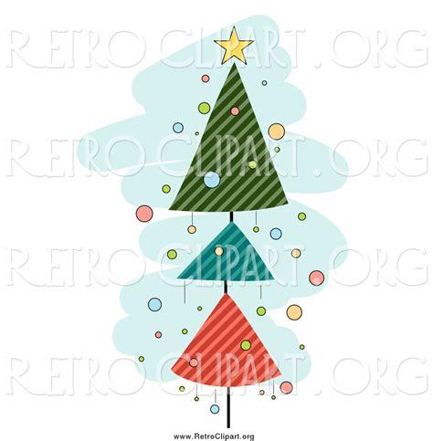 studio decor holiday clip clipart of a retro tree of striped triangles blue by bnp design studio 1855