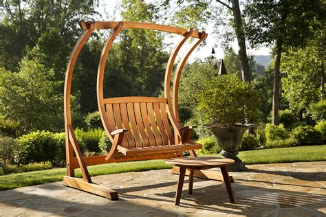 wood porch swing with frame exterior brown wooden swing a frame with chain and wooden