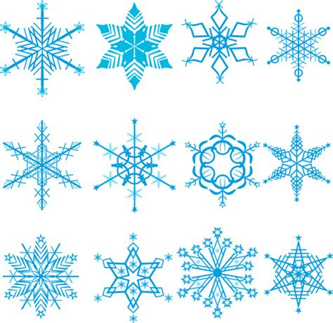 Winter Snowflakes Pattern Design Vector Graphics Free