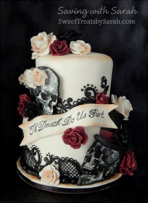 skull wedding cakes