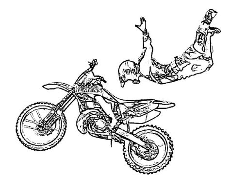get this preschool printables of dirt bike coloring pages