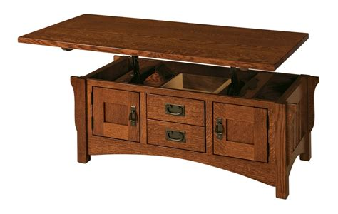 logan lift top coffee table buckeye amish furniture
