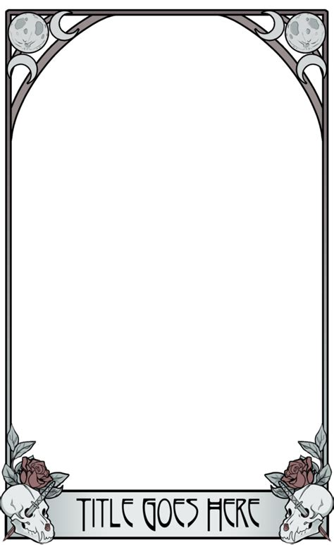 tarot card template psd tarot template silver and bone by crowfangs on deviantart