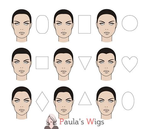 hair for face shape with no chin wig styles for face shapes paula s wigs