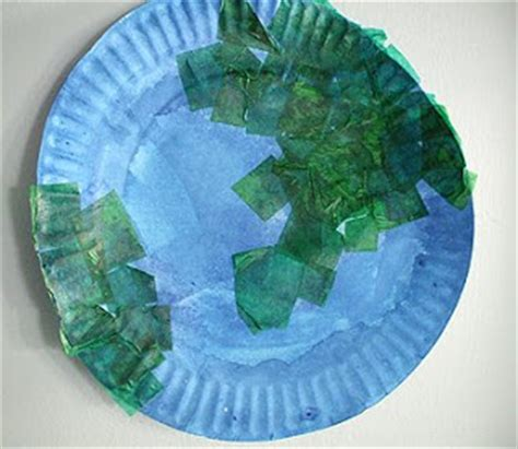 Earth Day Paper Crafts - preschool crafts for earth day paper plate craft