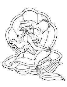 little mermaid coloring page free printable download