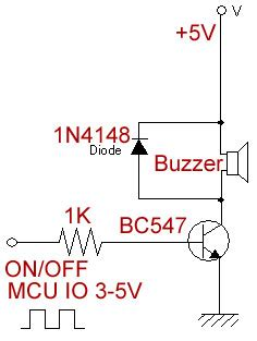 buzzer protection diode electromagnetic active buzzer 5v 4149 sunrom electronics technologies