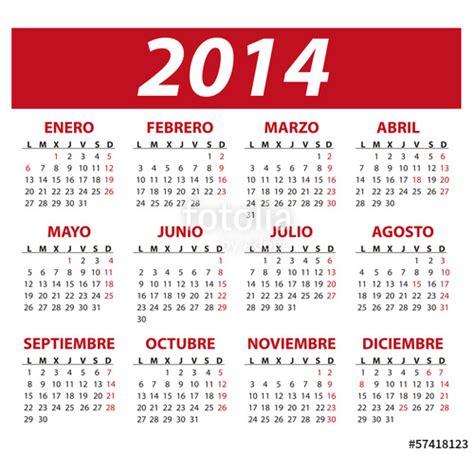 Calendario En Espanol Quot Calendario A 241 O 2014 En Espa 241 Ol Y D 237 As Festivos De Espa 241 A