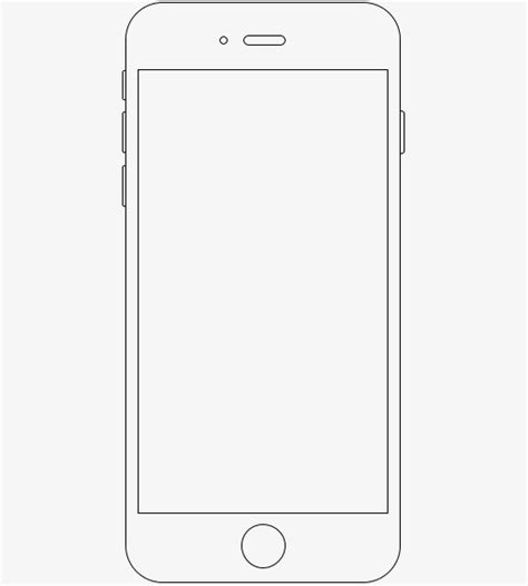 frame design for iphone apple phone frame phone border line creative png image
