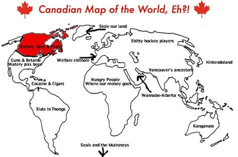 canadian map of the world spell forever gt humor mapa mundi do ponto de vista dos eua