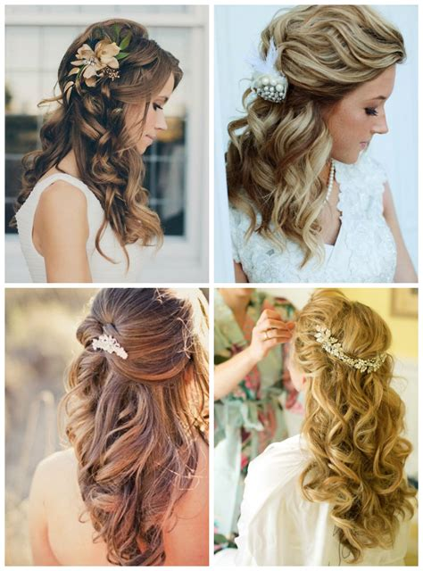 Wedding Hairstyles Half Up Half With Fringe by Waves Bridal Hairstyle With Fetching Wedding