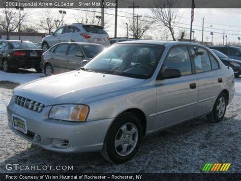 2001 hyundai accent gl silver mist 2001 hyundai accent gl sedan gray interior