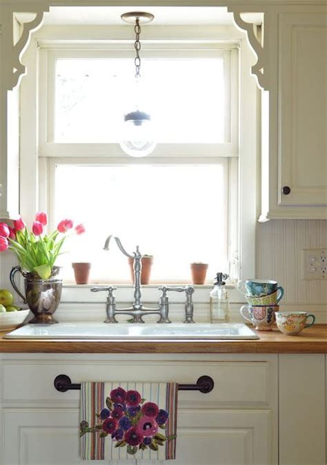 kitchen light sink farmhouse chic