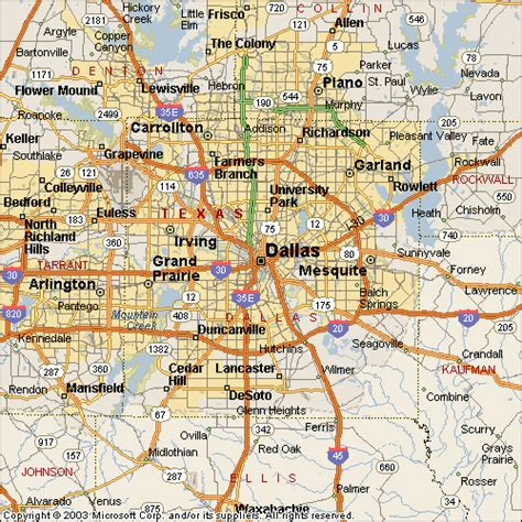map of dallas texas and suburbs dallas metro map toursmaps