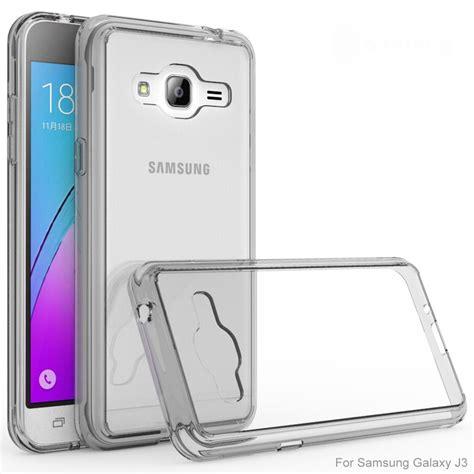 Samsung Galaxy J3 2016 Anti Knock Slim Hybrid Rugged Ar Diskon for samsung galaxy j3 2016 clear bumper frame clear cover protection