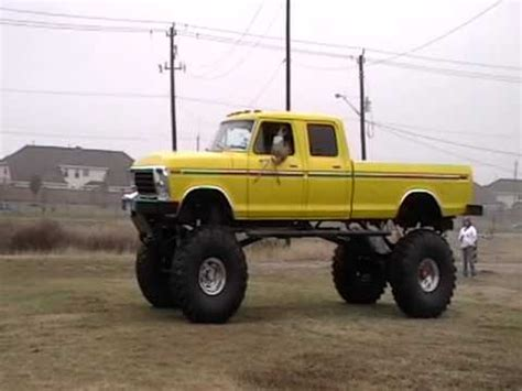 ford truck lifted to the sky youtube