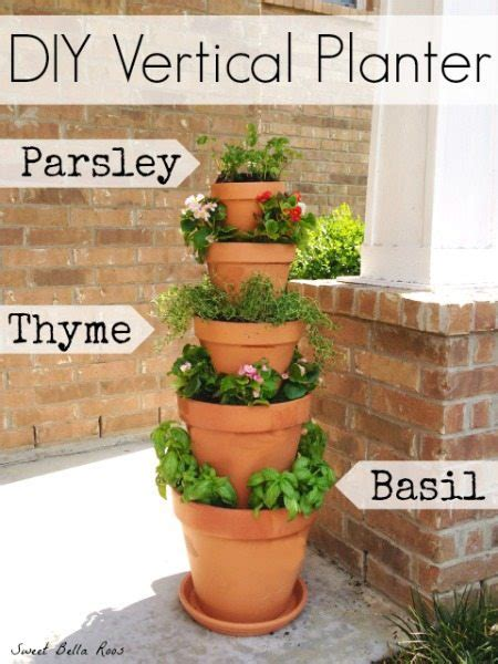 diy vertical planter herb  flower garden grace