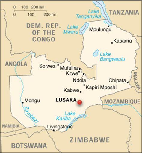 map of lusaka city lusaka zambia