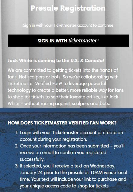 ticketmaster verified fan sign up what is ticketmaster s verified fan platform tickpick