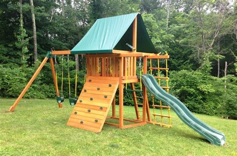 swing set with rock climbing wall 17 best images about swing set installations on pinterest