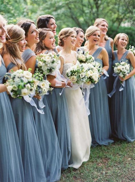 Blue Bridesmaid Dress by Charming Wedding With Dusty Blue Details