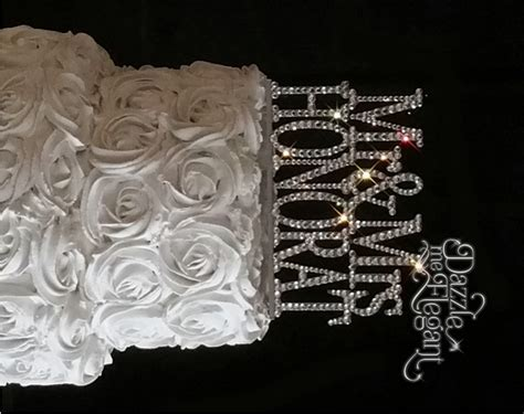 rhinestone cake toppers for wedding cakes mr mrs name rhinestone wedding cake topper