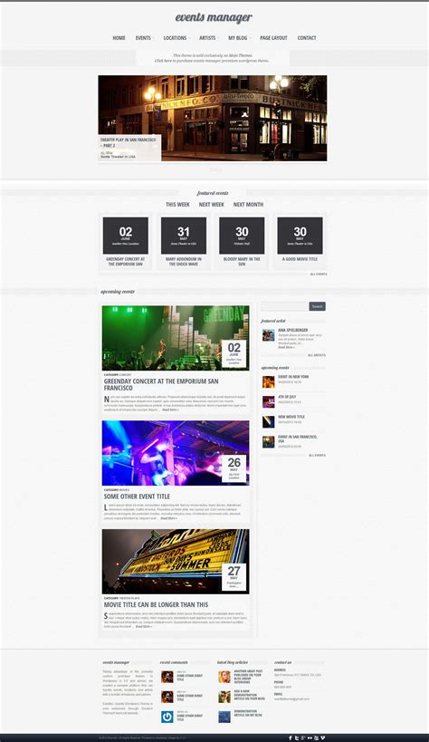 wordpress layout manager eventful an events manager wordpress theme mojo themes