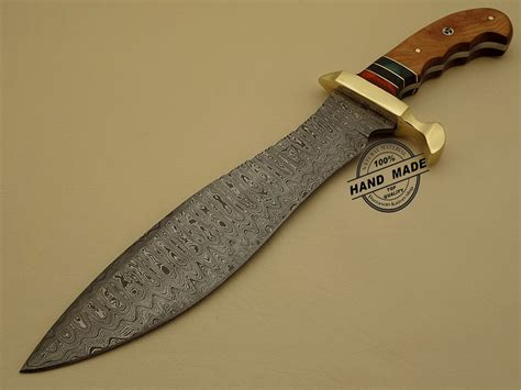 Custom Handmade Knives - professional damascus bowie knife custom handmade damascus