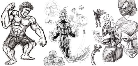 sketchbook marvel marvel sketches by castiboy on deviantart