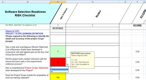 readiness assessment template software selection readiness assessment
