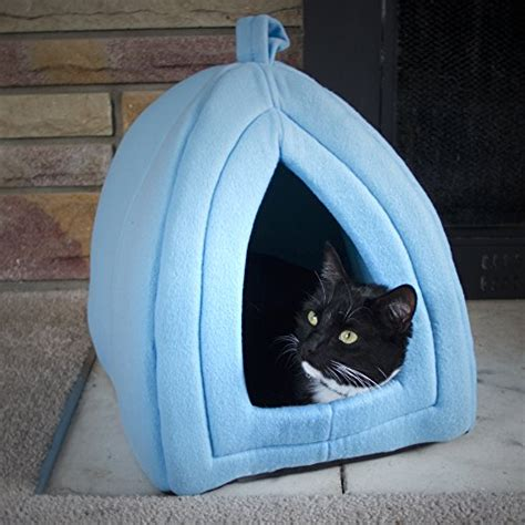 enclosed cat bed paw cozy kitty tent igloo plush enclosed cat bed