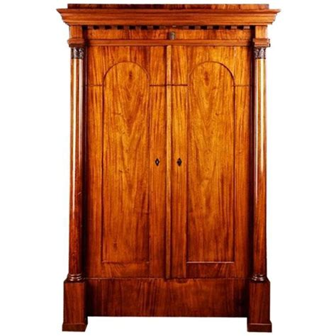 biedermeier armoire 19th century biedermeier style mahogany armoire for sale