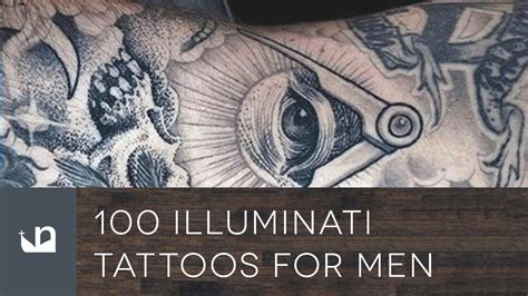 illuminati tattoos for men 100 illuminati tattoos for