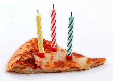 Candle Pizza By The Slice by Happy Birthday Mrtesto Donnie Nygeel