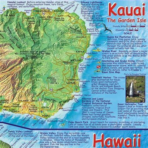 printable map kauai 10 best images about hawaii hike c on pinterest