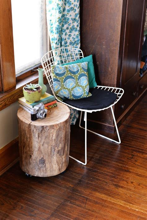 bring raw beauty   home  tree trunk tables