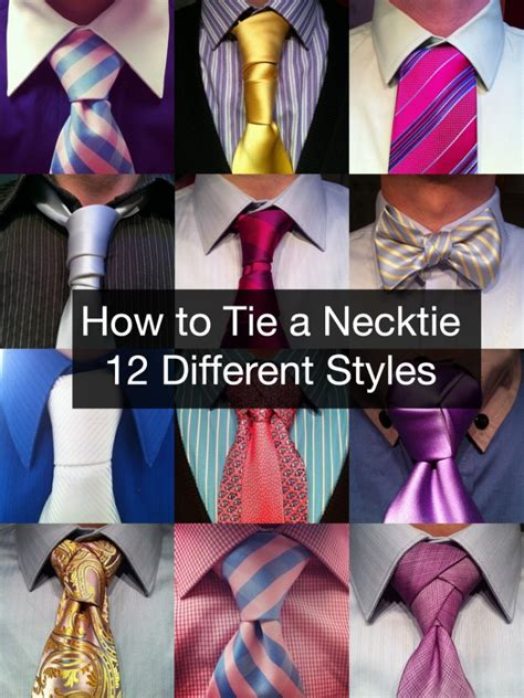 style ties for how to tie a tie using 12 different styles that look great