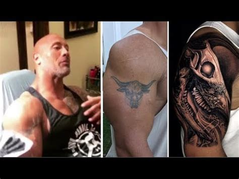 dwayne johnson tattoo cover the rock covers up iconic bull tattoo with bigger bull