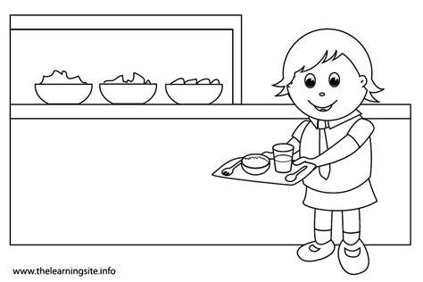 school canteen coloring page the learning site