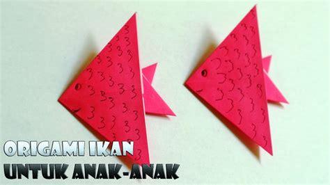 tutorial origami yang mudah cara membuat origami ikan yang mudah untuk tk dan