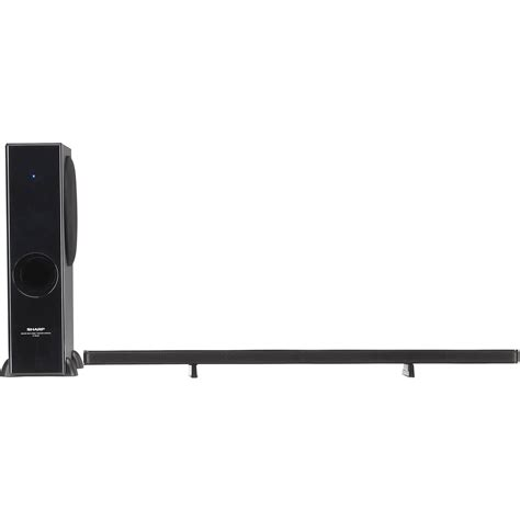sharp ht sl50 2 1 sound bar with subwoofer for home htsl50 b h