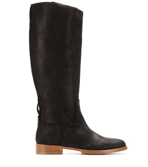 rag and bone boots lyst rag bone suede boots in black