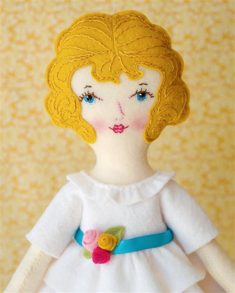 You Doll Design Etsy | ellie pdf pattern wool felt doll