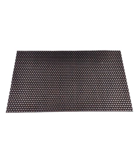 Table Mats by Ddrapes Black And Brown Table Mats Set Of 6 Pieces Buy