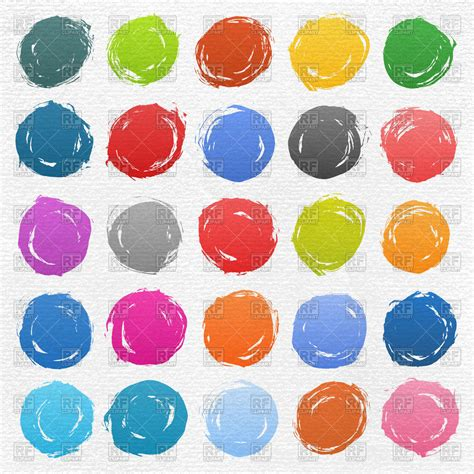eps clipart motley untidy paint circles vector image of design