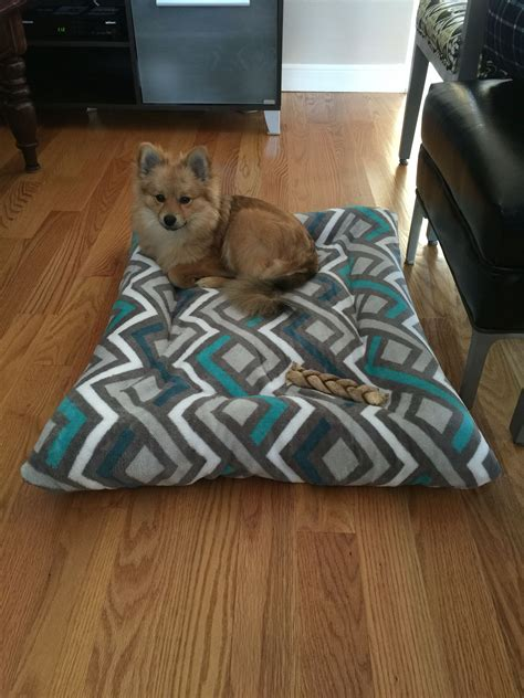dog bed pillows diy dog bed with old pillows and 5 walmart blanket pet