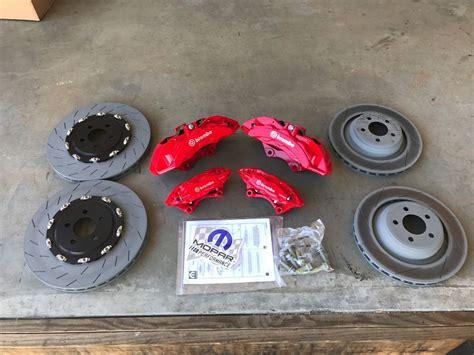 Breket Kaliper Brembo Drag challenger charger big brake kit brembo 6 pot calipers rotors pads front rear ebay