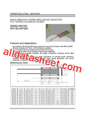 transistor irf 250 irf250 datasheet pdf list of unclassifed manufacturers